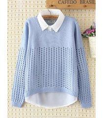 maglione a maglia in 2 pezzi finti