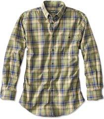 battenkill cotton blend long-sleeved shirt / regular, blue green, xx large
