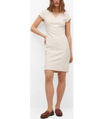 mango women's tailored short dress
