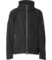 burberry packaway hood shape-memory taffeta jacket - black