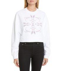 women's givenchy logo crop sweatshirt, size - (nordstrom exclusive)