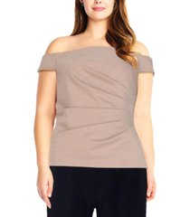 adrianna papell plus size off-the-shoulder top