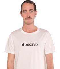 camiseta albedrío slim pecho blanco