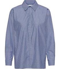 03 the shirt långärmad skjorta blå my essential wardrobe