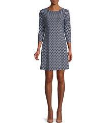 paisley-print mini dress