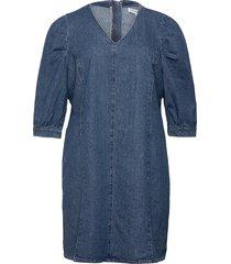 carlursa life 3/4 dnm tunic dress dresses jeans dresses blå only carmakoma