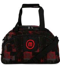 maleta 261 macoly lona rojo y negro
