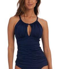 la blanca island goddess keyhole tankini top women's swimsuit