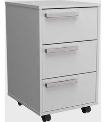 conjunto p/ escritã³rio mesa e gaveteiro branco nova mobile - branco - dafiti