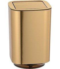 kosz na śmieci łazienkowy lura złoty