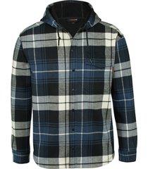 wolverine men's bucksaw bonded shirt jac blue plaid, size xxl