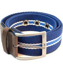 cinto em algodão e ponteiras isiero assortment belt azul