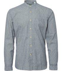 oliver spencer indigo grandad shirt osms126