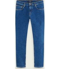 scotch & soda skim cropped - blauw sails | mid rise skinny jeans