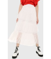 falda blanco paris district
