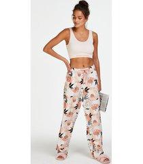 hunkemöller petite pyjamasbyxor i vävt tyg rosa