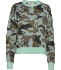 gina camouflage stickad tröja grön custommade