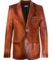 marni distressed-effect blazer - orange