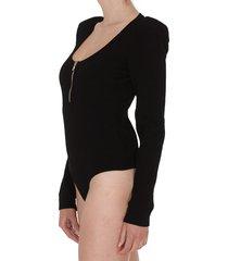 balmain diamond knit bodysuit