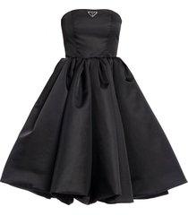 king-nylon gabardine jurk