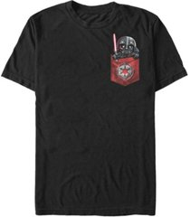 fifth sun star wars men's darth vader cutie pocket short sleeve t-shirt