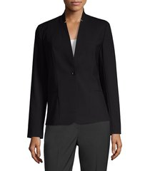 elie tahari tori seasonless wool jacket - navy yard - size 6