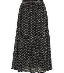 leiaiw skirt lång kjol svart inwear
