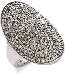 farrah sterling silver & champagne diamond saddle ring