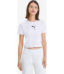 nu-tility nauwsluitend t-shirt voor dames, wit, maat s | puma