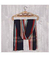 cotton shawl, 'magical midnight' (india)