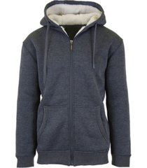 galaxy by harvic men's sherpa lined fleece zip-up hoodie