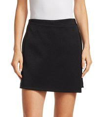 satin & crepe apron shorts