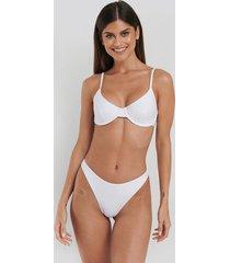 na-kd swimwear high cut bikini panty - white