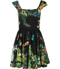 dolce & gabbana patterned cotton dress