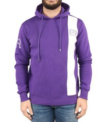 by risqué purple white stripe hoodie paars