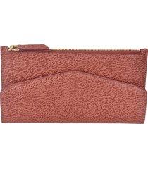 maison margiela rear logo top zipped long wallet