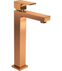 misturador monocomando para banheiro mesa unic red gold 2885.gl90.rd - deca - deca