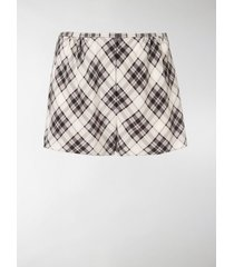 marc jacobs the marc jacobs plaid front fly short