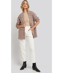 na-kd trend cropped belted pants - white