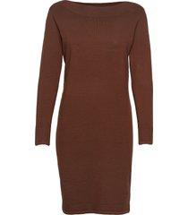 zubasic 131 dress knälång klänning brun fransa