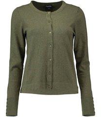vest basic groen