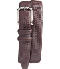 men's big & tall torino bulgaro calfskin leather belt, size 46 - brown