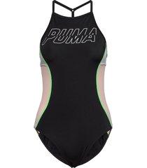 puma swim women racerback swimsuit baddräkt badkläder svart puma swim