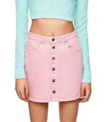falda rosado pepe jeans