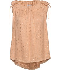 rodebjer jedia blouse mouwloos roze rodebjer