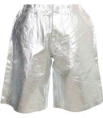 comme des garçons homme plus laminated polished polyester shorts