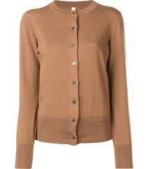 extreme cashmere fine knit cardigan - brown