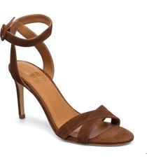sandal 4450 sandal med klack brun billi bi