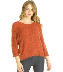 sweater c/v naranja bou's