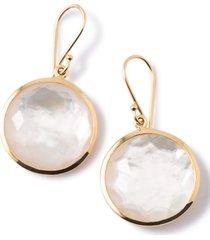 ippolita rock candy lollipop drop earrings in gold/pearl at nordstrom